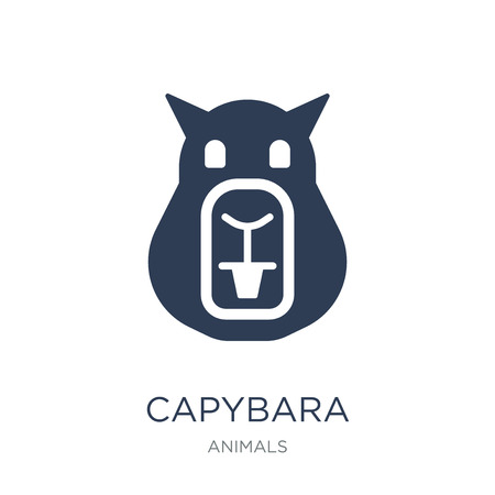 Illustration pour Capybara icon. Trendy flat vector Capybara icon on white background from animals collection, vector illustration can be use for web and mobile, eps10 - image libre de droit
