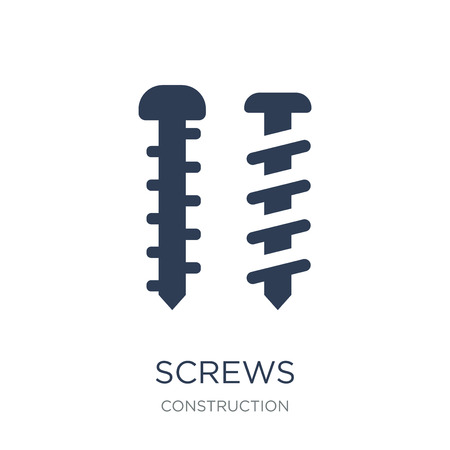 Illustration pour Screws icon. Trendy flat vector Screws icon on white background from Construction collection, vector illustration can be use for web and mobile, eps10 - image libre de droit