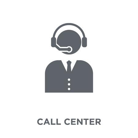 Vektor für Call center icon. Call center design concept from Communication collection. Simple element vector illustration on white background. - Lizenzfreies Bild