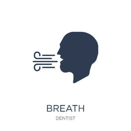Illustration pour Breath icon. Trendy flat vector Breath icon on white background from Dentist collection, vector illustration can be use for web and mobile, eps10 - image libre de droit
