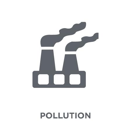 Illustration pour Pollution icon. Pollution design concept from Ecology collection. Simple element vector illustration on white background. - image libre de droit