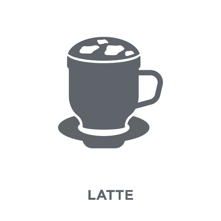 Latte icon. Latte design concept from Drinks collection. Simple element vector illustration on white background.