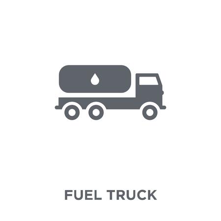 Illustration pour Fuel truck icon. Fuel truck design concept from  collection. Simple element vector illustration on white background. - image libre de droit