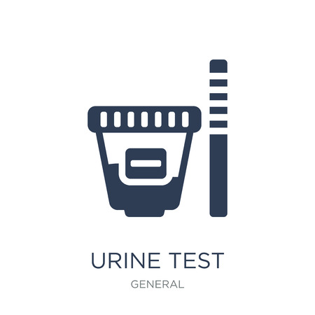 urine test icon. Trendy flat vector urine test icon on white background from General collection, vector illustration can be use for web and mobile, eps10
