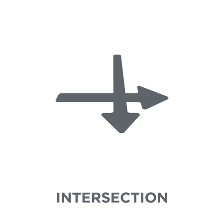 Intersection icon. Intersection design concept from Geometry collection. Simple element vector illustration on white background.
