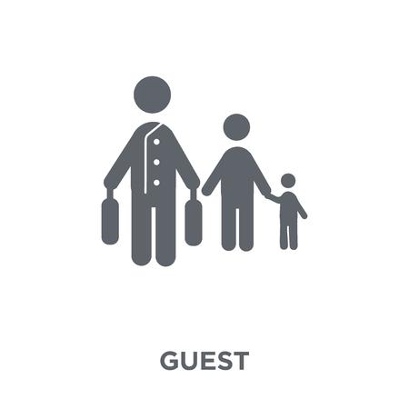 Illustration pour Guest icon. Guest design concept from Hotel collection. Simple element vector illustration on white background. - image libre de droit