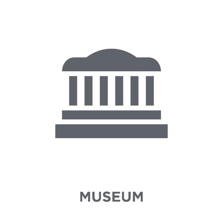 Illustration pour Museum icon. Museum design concept from  collection. Simple element vector illustration on white background. - image libre de droit
