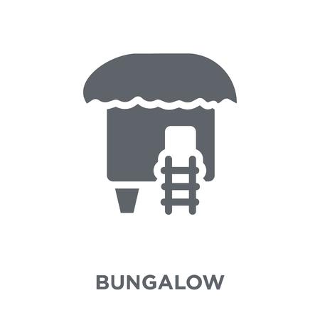 Illustration pour Bungalow icon. Bungalow design concept from  collection. Simple element vector illustration on white background. - image libre de droit
