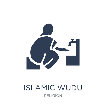 Illustration pour Islamic Wudu icon. Trendy flat vector Islamic Wudu icon on white background from Religion collection, vector illustration can be use for web and mobile, eps10 - image libre de droit