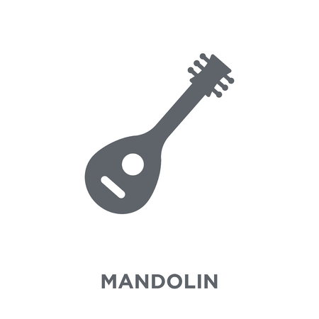 Mandolin icon. Mandolin design concept from Music collection. Simple element vector illustration on white background.