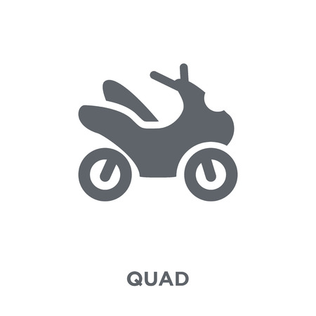 Illustration for Quad icon. Quad design concept from  collection. Simple element vector illustration on white background. - Royalty Free Image