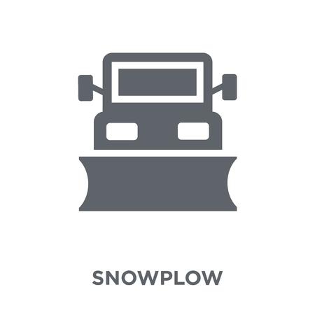 Illustration pour Snowplow icon. Snowplow design concept from  collection. Simple element vector illustration on white background. - image libre de droit