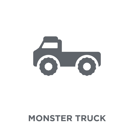 Illustration for Monster truck icon. Monster truck design concept from Transportation collection. Simple element vector illustration on white background. - Royalty Free Image