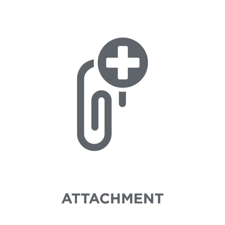 Ilustración de Attachment icon. Attachment design concept from  collection. Simple element vector illustration on white background. - Imagen libre de derechos