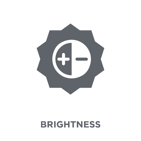 Brightness icon. Brightness design concept from  collection. Simple element vector illustration on white background.