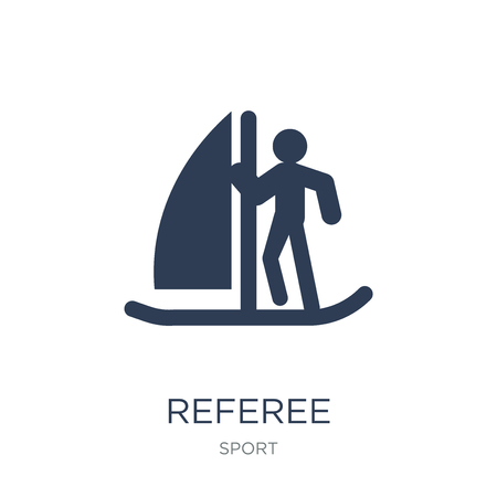 Referee icon. Trendy flat vector Referee icon on white background from sport collection, vector illustration can be use for web and mobile, eps10