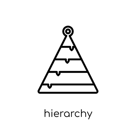 Illustration pour Hierarchy icon. Trendy modern flat linear vector Hierarchy icon on white background from thin line Business and analytics collection, editable outline stroke vector illustration - image libre de droit
