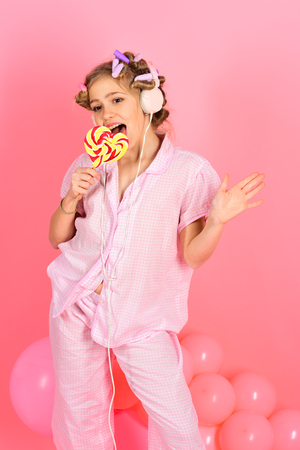 lollipop candy at little girl. lollipop candy or sweet, small girl kid
