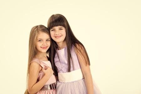 Small girls children in beautiful dress.