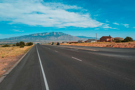 Photo pour Highway road. Asphalt road panorama in countryside on summer day. - image libre de droit