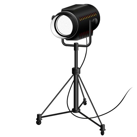 old searchlight to illuminate the scene filming