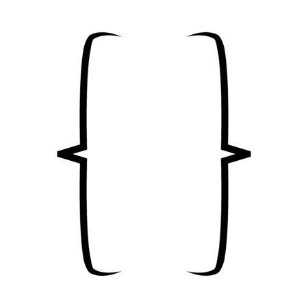 Ilustración de Bracket icon. Web element. Premium quality graphic design.  Empty business card, paper sheet, information, text. Print design Vector illustration - Imagen libre de derechos