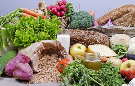 compilation of organic food