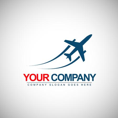 Ilustración de Airplane Design. Vector Shape of a plane with trails. - Imagen libre de derechos