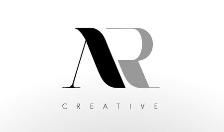 A R Letter Logo Design. Creative Modern AR Letters Icon Illustration.