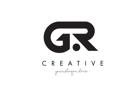 GR Letter Logo Design with Creative Modern Trendy Typography and Black Colors.