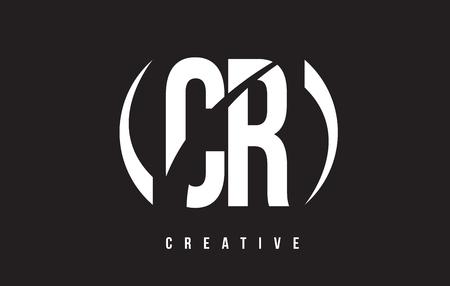 CR C R White Letter Logo Design with White Background Vector Illustration Template.