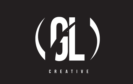 GL G L White Letter Logo Design with White Background Vector Illustration Template.