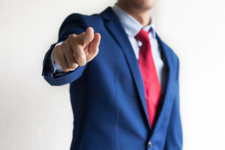 Foto für Confident business manager pointing at camera as We Want You gesture - indicates company looking for new employees - Lizenzfreies Bild