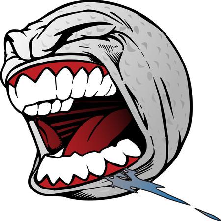 Illustration pour Screaming Golf Ball - image libre de droit