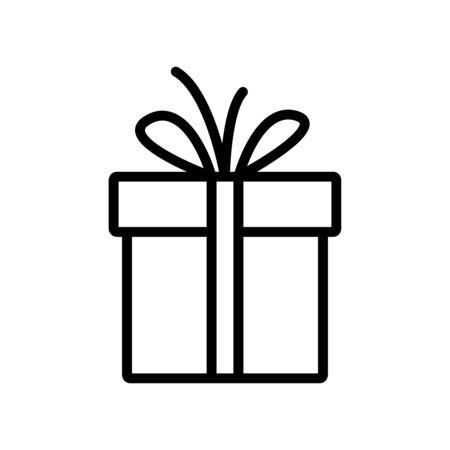 Illustration pour Gift box line icon - image libre de droit