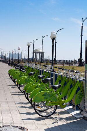 The Urban rentable bike in parking