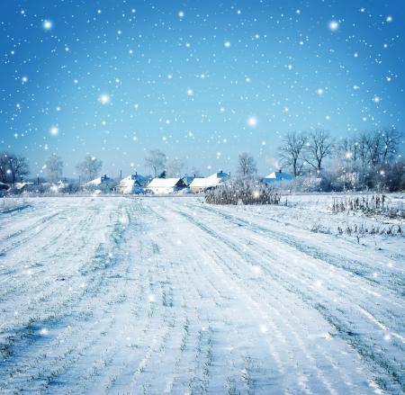 Photo pour winter vilage - image libre de droit