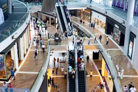 Singapore, Republic of Singapore - May 02, 2011: Shopping centre at Marina Bay Sands Resort.
