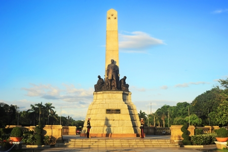 Manila, Philippines - April 01, 2012: Rizal monument in Rizal park in Manila. The monument was built to commemorate the Filipino nationalist, José Rizal. The monument was unveiled in 1913.