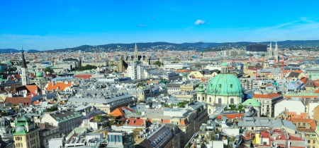 Photo for Panorama of Vienna from St. Stephen's Cathedral - Royalty Free Image