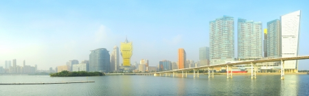 Panorama of Macau city center in the sunshine day
