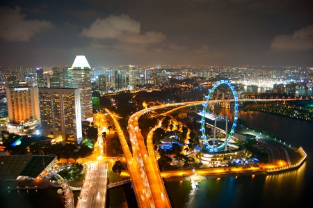 Nighttime Singapore