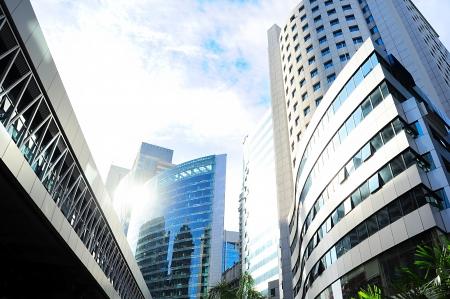 Skyscrapers in Kuala Lumpur financial center. Malaysia