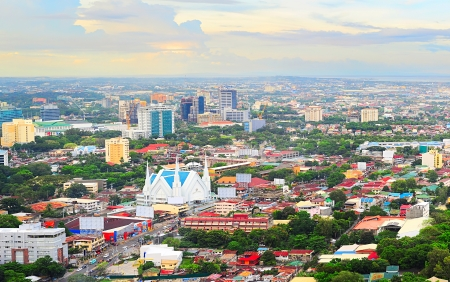 Photo for Panorama of Cebu city. Cebu is the Philippines second most significant metropolitan centre and main domestic shipping port. - Royalty Free Image