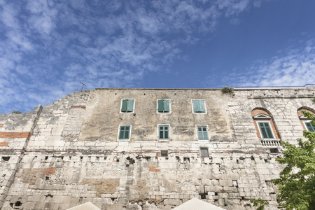 Defensive wall of Diocletian's palace in Split, Croatia