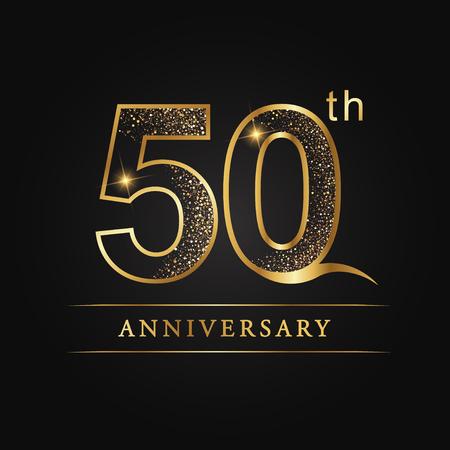 Ilustración de 50 years anniversary celebration logotype. 50th anniversary logo - Imagen libre de derechos