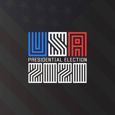Us Presidential Election 2020 Template For The Political Poster