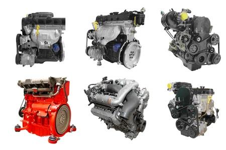 Photo pour The image of engines under the white background - image libre de droit