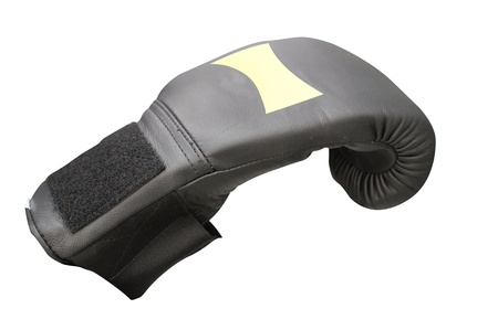 The image of boxing glove under the white background