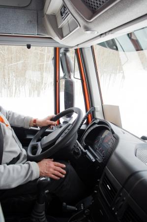 interior of a truck cab